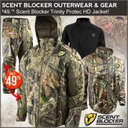 3f3c6b22860e8 Scent Blocker jackets, bibs, and pants are on sale now at Field Supply.  There are several highly discounted options on outerwear and base layers.
