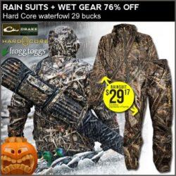 camo rain suit