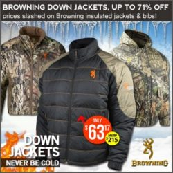 cheap down hunting jecket