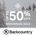 Semi-annual Sale at Backcountry.com- Save up to 50% + Extra 20% Off Gear
