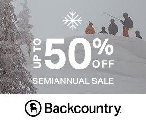 huge savings on brand name backcountry gear
