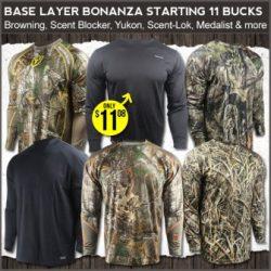 cheap hunting base layers