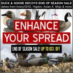 huge duck decoy sale