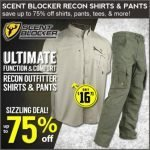 Scent Blocker Outfitter Apparel – Up to 75% Off- Ends 1/10