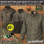 Up to 61% Off Drake Bottomland Camo Waterfowl Apparel- Ends 10/13