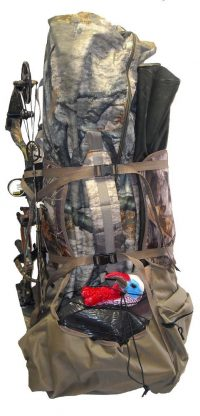 ground blind carrying backpack system