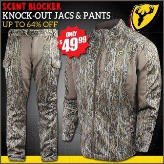 24a2ef6a71e ScentBlocker Men s Realtree Knock Out Jackets   Pants -  49.99 ...