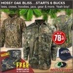 Mossy Oak Camo Sale + Bonus Items at Field Supply- Ends 11/15
