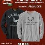 Legendary Whitetails Men's Hunters Escape Thermal Crew- $15.00