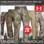 Under Armour Hunting Pants Closeouts- $28.31