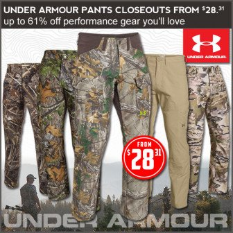 under armour hunting deals