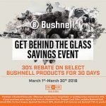 30% Rebate on Bushnell Optics – Ends 3/31/2018