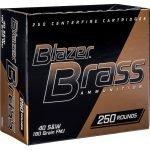250 Rounds – Blazer Brass Full Metal Jacket ,40 S&W 180 Grain at Academy Sports – Only $64.99