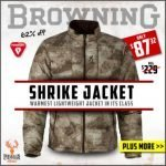 Browning Shrike Jacket- Only $87.32 at Wing Supply – Ends 10/12