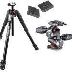 Manfrotto MT055XPRO3 Aluminium 3-Section Tripod Kit w/ MHXPRO3W X-PRO 3-Way Head  – Amazon Lightning Deal