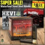 Waterfowl Steel Shot Ammo on Sale at Wing Supply – 12/5 at 7:00 AM