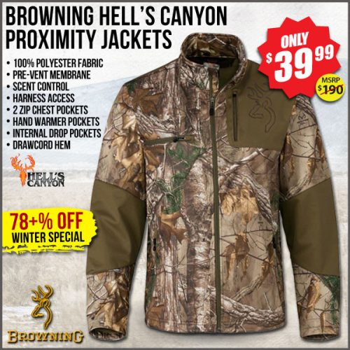 best deal browning Hell's Canyon