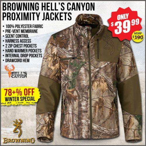 29d2138339dc1 Browning Hell's Canyon Proximity Jacket – $39.99 at Wing Supply – Save 78%