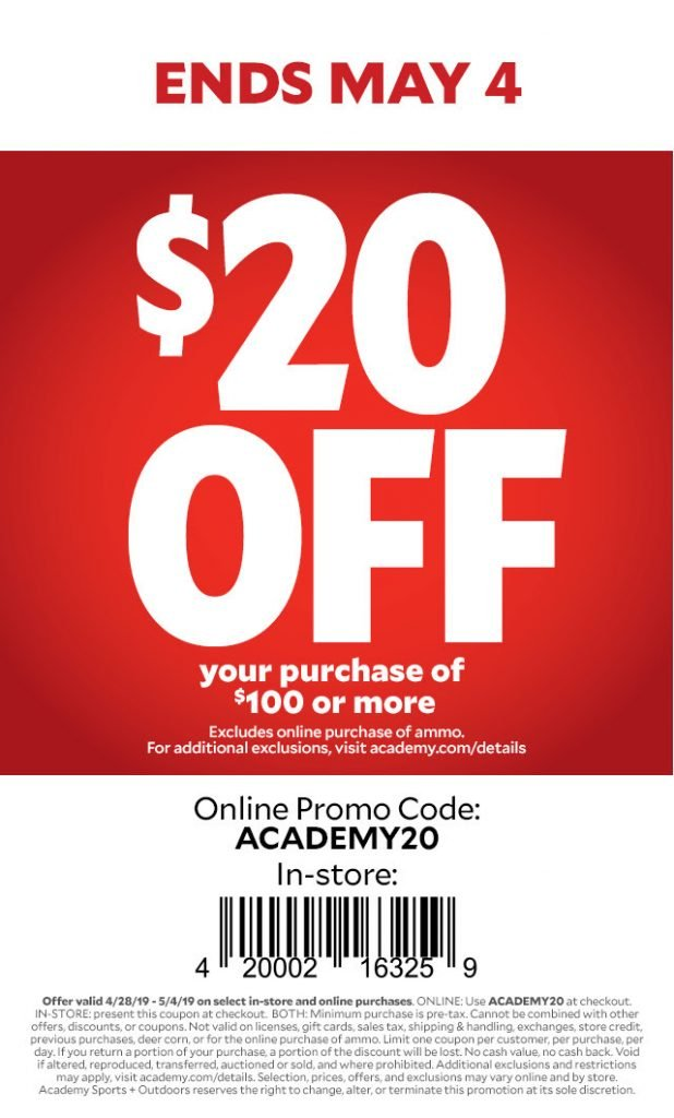 academy 20 off