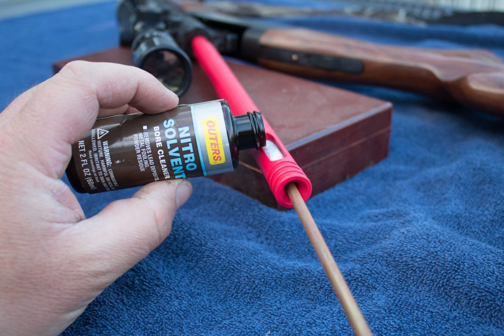 using a gun cleaning bore guide