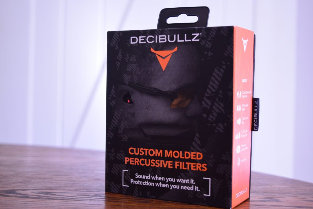 decibullz percussive ear plugs packging