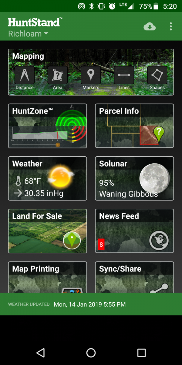 hunt mapping app