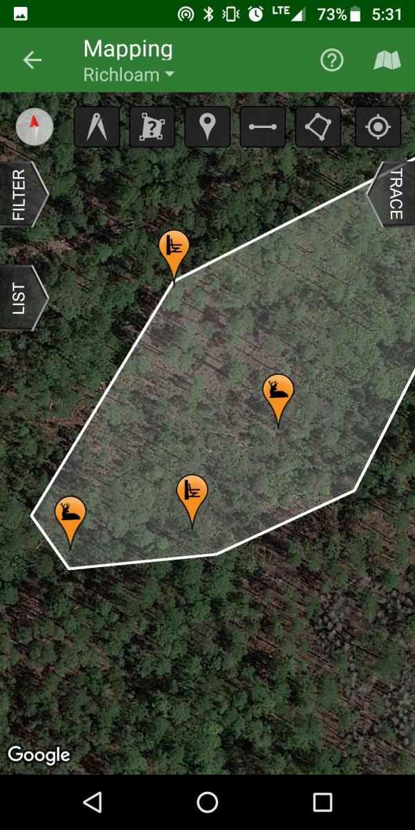 gps track hunting app